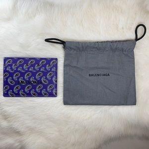 Balenciaga Paisley Card Holder